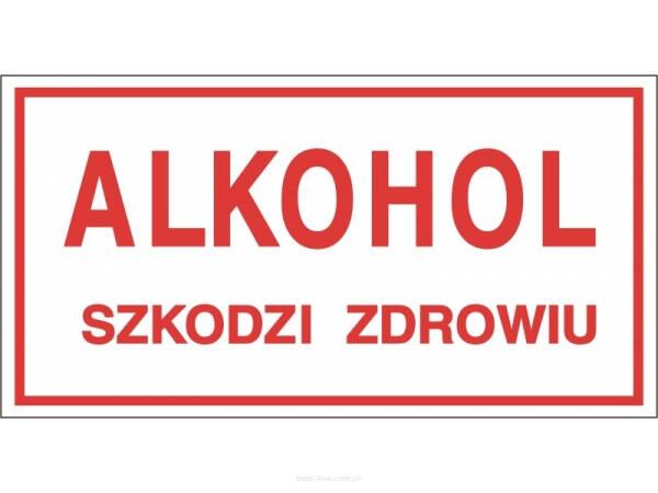 30cd7ec2b08b6c Tabliczka informacyjna ALKOHOL SZKODZI ZDROWIU A5 - Best-line